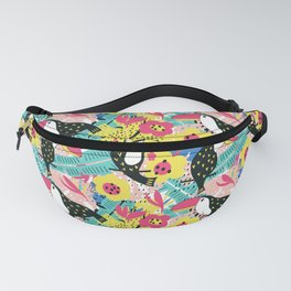 Toucan floral pattern Fanny Pack