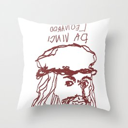 Da Vinci Was Left Handed Throw Pillow