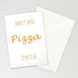 We're Getting Pizza After This Food Shirt For Snack Lovers Pepperoni Mushroom Meatballs Cheese Stationery Cards