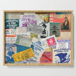 Concert Ticket Stub Backstage Passes - The Boss Serving Tray