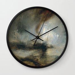 "Tempête de neige en mer ""Snow Storm - Steam-Boat off a Harbour's Mouth"", William Turner, 1842 Wall Clock"