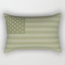 Camo Stars and Stripes – USA Flag in Military Camouflage Colors [FalseFlag 1] Rectangular Pillow