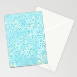 Forget Me Knot - Little Flowers on aqua Stationery Cards