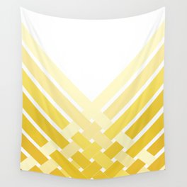 Yellow Ombre Stripes Wall Tapestry