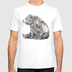 Bear // Graphite White LARGE Mens Fitted Tee