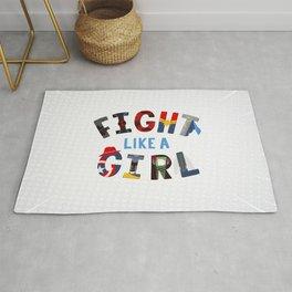 Fight Like A Girl - Superhero Women Rug
