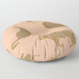 sunset leopards Floor Pillow