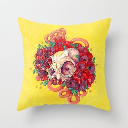 A Ghost Talks to Me in My Sleep Throw Pillow