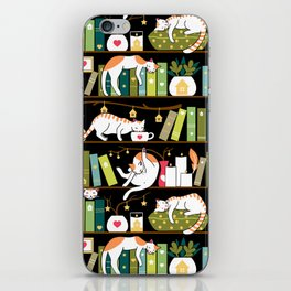 Library cats iPhone Skin
