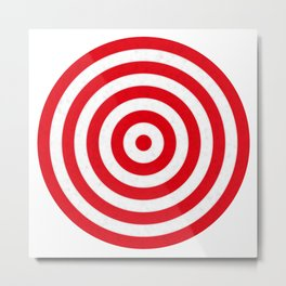 Red target on white background Metal Print