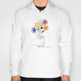 Pablo Picasso Bouquet Of Peace 1958 (Flowers Bouquet With Hands), T Shirt, Artwork Hoody