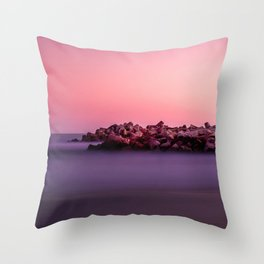 Walton Lighthouse Seabright Beach Santa Cruz California United States Ultra HD Throw Pillow