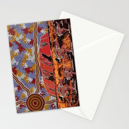 Uluru (Ayers Rock) Authentic Aboriginal Art Stationery Cards