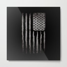 White Grunge USA flag Metal Print