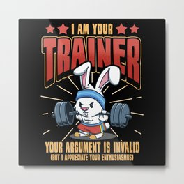 Muscle Builder Trainer Sport Bodybuilding Gift Metal Print