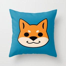 Red Shiba Throw Pillow