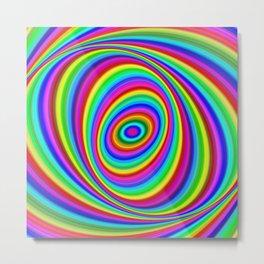 Rainbow Hypnosis Metal Print