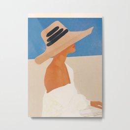 Summer Hat Metal Print