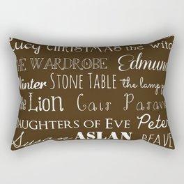 Narnia Celebration - Mocha Rectangular Pillow