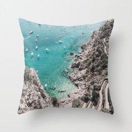 Capri Coast Throw Pillow