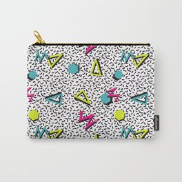 Funky 80s & 90s Memphis Pattern Design Carry-All Pouch