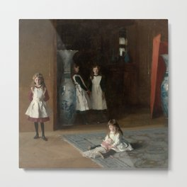 The Daughters of Edward Darley Boit by John Singer Sargent (1882) Metal Print