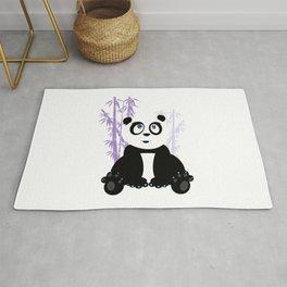Panda Girl - Purple Rug