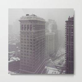 Flatiron Building Winter Metal Print