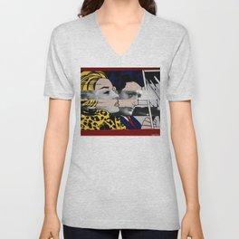 """Roy Lichtenstein's """"In the car"""" & Marcello Mastroianni with Anita Ekberg Unisex V-Neck"""