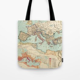 Vintage Map of The Roman Empire (1889) Tote Bag