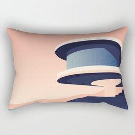 Soviet Modernism: Writers' Resort in Sevan, Armenia Rectangular Pillow