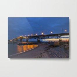 Coleman Bridge At Sunrise Metal Print