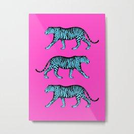 Tigers (Magenta and Blue) Metal Print