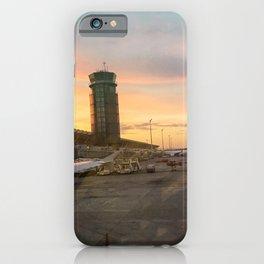 Airplane sunset iPhone Case