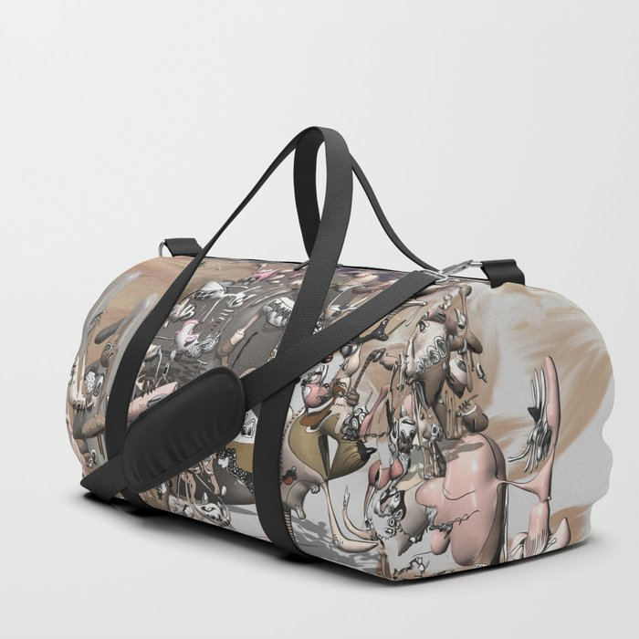 Migration II - surreal doodle sandworld Duffle Bag