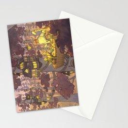 Treehouse Dinner With Animal Friends Stationery Cards