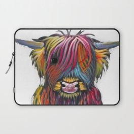 Scottish Highland Cow ' BRaVEHEaRT 2 ' by Shirley MacArthur Laptop Sleeve
