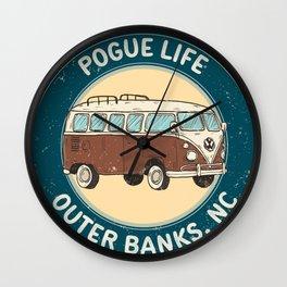 outerbanks nc - pogue life Wall Clock