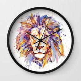 Lion Head Wall Clock