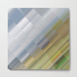 Travel: sky and grass. Abstract gradient art geometric background with soft color tone, cell grid. I Metal Print