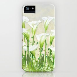 Calla Lily In White iPhone Case