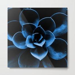 Dark Blue Succulent Plant #decor #society6 #buyart Metal Print