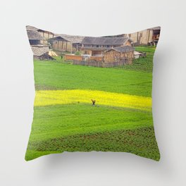 Organic Farm Throw Pillow