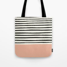 Peach x Stripes Tote Bag
