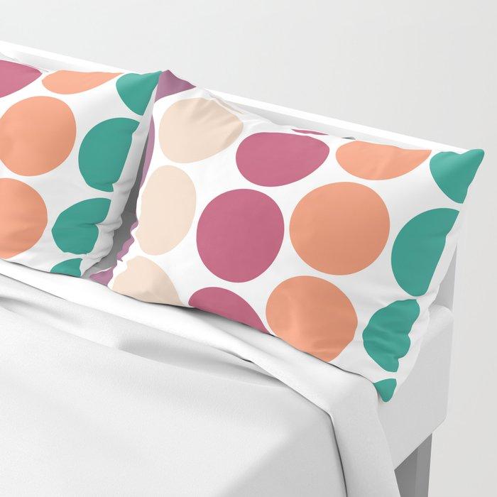 70s Freehand Retro Bubbles & Dots Pillow Sham