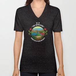 RIP The Dinosaurs Forever In Our Hearts Unisex V-Neck