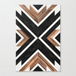 Urban Tribal Pattern No.1 - Concrete and Wood Leinwanddruck
