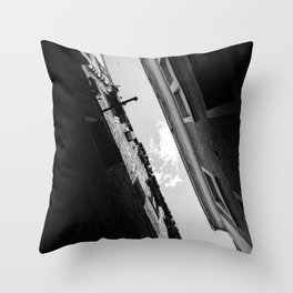 Diagonal sky Throw Pillow