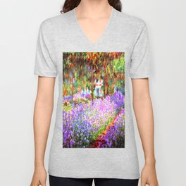 Monets Garden in Giverny Unisex V-Neck