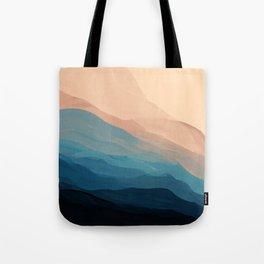 Blue Waves In Desert Peaks Tote Bag